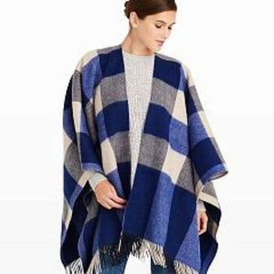Daylina Plaid Shawl Club Monaco OS